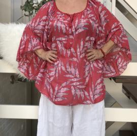 ITALIA oversized katoen blouse/tuniek (extra groot)