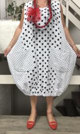 Moonshine katoen jurk zonder mouwen (extra groot)