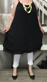 ITALIA viscose A-lijn jurk gevoerd
