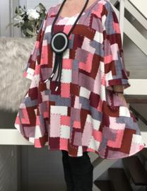 Gertie oversized jersey A-lijn tuniek/ jurk met zakken apart stretch  (extra groot)