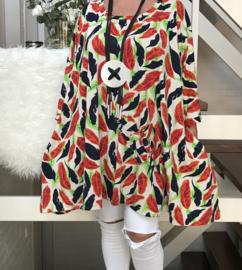 Ellie oversized A-lijn jersey tuniek/jurk met zakken apart (extra groot)