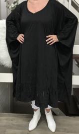 Kaya oversized A-lijn jersey jurk/wrap apart (extra groot)