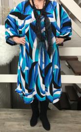 Eugenia oversized A-lijn jersey jurk apart (extra groot)