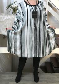 Georgia oversized viscose A-lijn jurk met zakken apart (extra groot)
