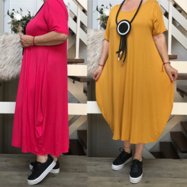 La Bass viscose  A-lijn jurk STRETCH/in meerdere kleuren