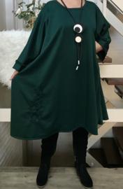 Claudia oversized A-lijn jersey jurk apart (extra groot)