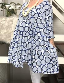 Belinda oversized A-lijn jersey tuniek/jurk met zakken apart (extra groot)
