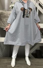 Italia oversized jersey katoen tuniek (extra groot)/in meerdere kleuren
