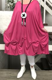 Nadia oversized A-lijn jersey jurk apart (extra groot)
