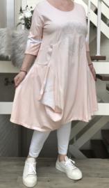 Vincenzo Allocca de modieuze kleuring jersey katoen A-lijn jurk/tuniek stretch