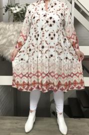 ITALIA viscose jersey  A-lijn tuniek/jurk /in meerdere kleuren