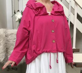 Moonshine oversized jersey  katoen vest/blazer  stretch/in meerdere kleuren