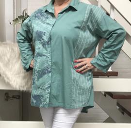ITALIA katoen blouse/hemd stretch/in meerdere kleuren