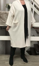 ITALY zacht gebreide oversized  vest