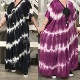 ITALIA de modieuze kleuring oversized viscose  A-lijn jurk/in meerdere kleuren