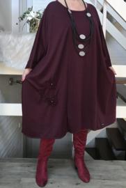Mathilde oversized A-lijn jersey jurk apart (extra groot)
