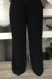 ITALIA  jersey wijde broek zwart ( extra groot) ( extra lang)