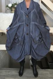 Moonshine waterdicht A-Lijn jas/blazer ( extra groot) blauw
