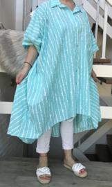 ITALIA katoen oversized hemd/tuniek  apart/ in meerdere kleuren