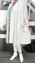 Cornelia oversized A-lijn jersey blazer/jas met zakken (extra groot)  apart