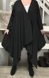 Moonshine oversized jersey  katoen vest stretch zwart