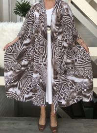 Audrey oversized A-lijn blazer/jas  (extra groot)  apart