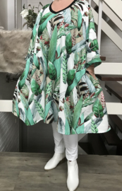 Lucia oversized A-lijn katoen/linnen jurk met zakken apart (extra groot)