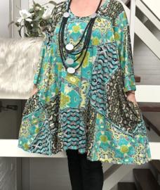Lizy oversized A-lijn jersey tuniek/jurk met zakken apart (extra groot)