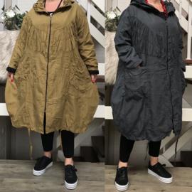 La Bass A-lijn jas gevoerd /in meerdere kleuren