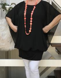ITALIA MODA oversized  top/blouse met band aan de onderkant /in meerdere kleuren