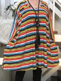 Charlotte oversized jersey A-lijn tuniek/ jurk met zakken apart stretch  (extra groot)