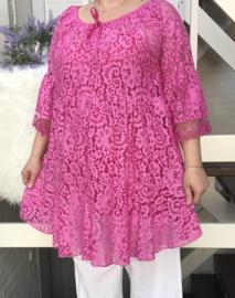 ITALIA  katoen kanten tuniek/jurk + top/in meerdere kleuren