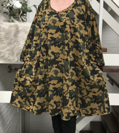 Lolita oversized jersey A-lijn tuniek/ jurk met zakken apart stretch  (extra groot)
