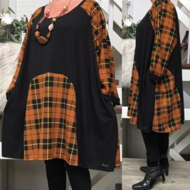 Marja oversized A-lijn viscose  jersey tuniek met zakken apart (extra groot)stretch