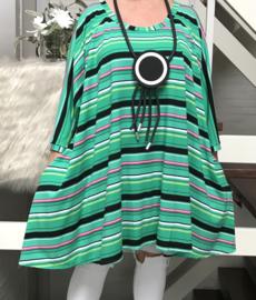 Ninka oversized A-lijn jersey tuniek/jurk met zakken apart (extra groot)