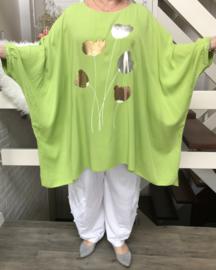 ITALIA viscose oversized poncho/ blouse (extra groot)/in meerdere kleuren