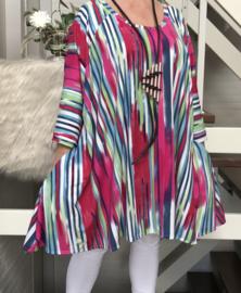 Mabel oversized A-lijn jersey tuniek/jurk met zakken apart (extra groot)