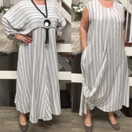 Naveed jersey A-lijn jurk + korte top apart