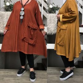 La Bass de modieuze kleuring katoen  A-lijn jurk/tuniek apart/in meerdere kleuren