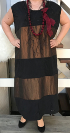 Gaby oversized A-lijn  jurk apart (extra groot)