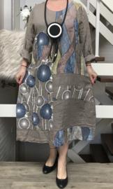 ITALIA linnen  A-lijn jurk apart/in meerdere kleuren