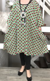Gloria oversized A-lijn linnen/katoen tuniek/jurk met zakken apart (extra groot)