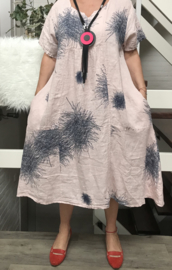 ITALIA  linnen  A-lijn jurk /in meerdere kleuren