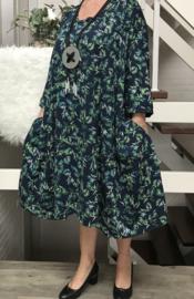 Jasmijn oversized A-lijn jersey jurk met zakken apart (extra groot)
