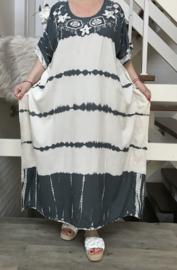 ITALIA oversized viscose geborduurd met kralen jurk /poncho apart/in meerdere kleuren