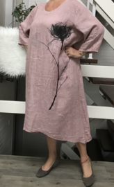 Moonshine linnen  A-lijn jurk/in meerdere kleuren