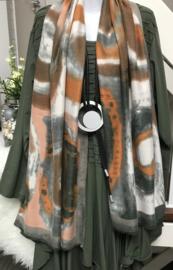 ITALIA zachte viscose/wol sjaal