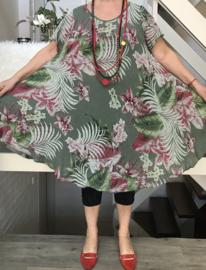 ITALIA katoen A-Lijn  jurk/in meerdere kleuren