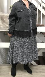 ITALIA jeans katoen korte blazer/jas stretch met KANT