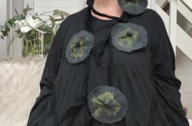 Maxima HM wollen ketting met bloemen 00104